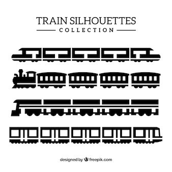 Collection de silhouette de train