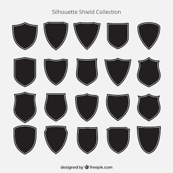 Collection de silhouettes de bouclier