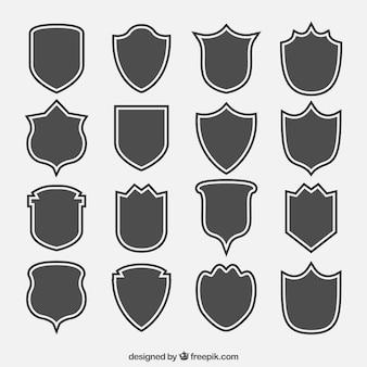 Collection de silhouettes de bouclier