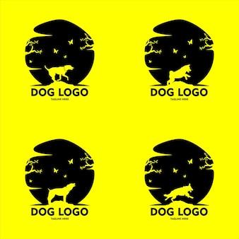 Collection de silhouettes de chiens