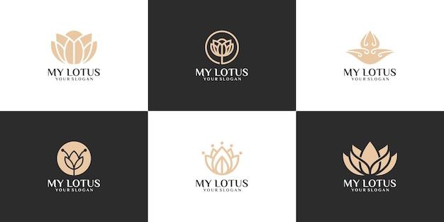 Collection, un simple logo de lotus naturel