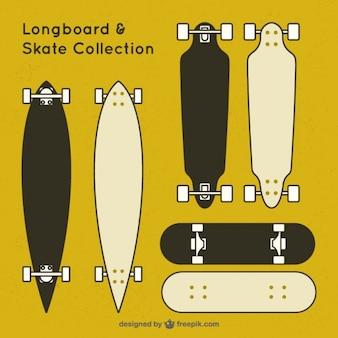 Collection skate noir et blanc