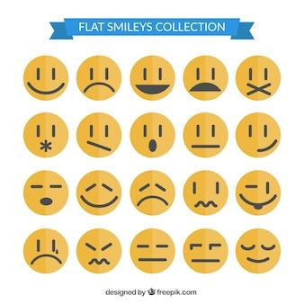 Collection smiley dans le style plat