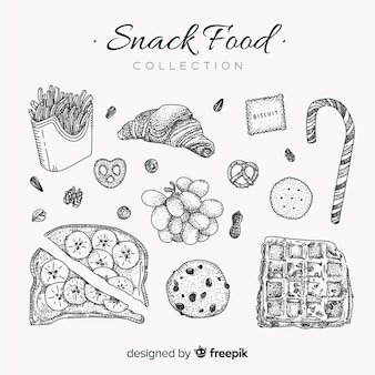 Collection de snacks savoureux