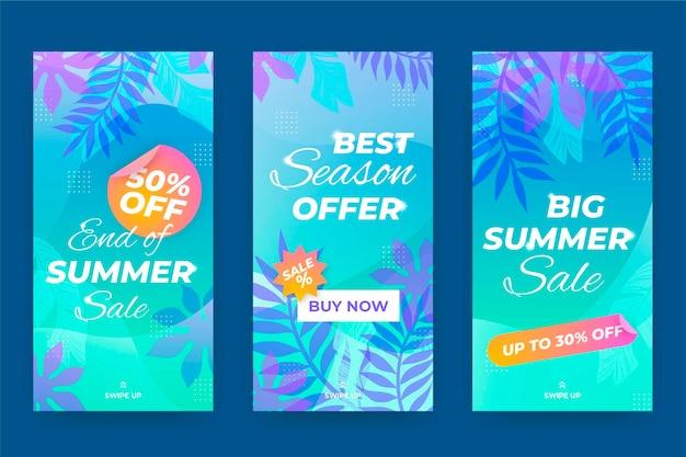 Collection de soldes d'été de fin de saison