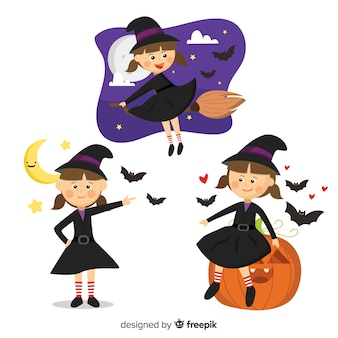 Collection de sorcières d'halloween