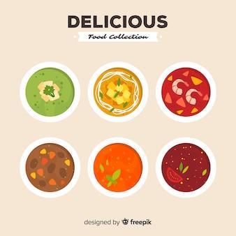 Collection de soupe délicieux