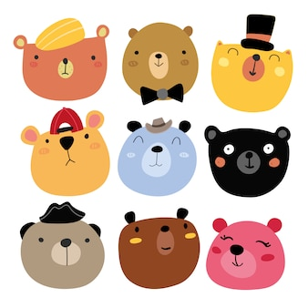 Collection souriante d'ours