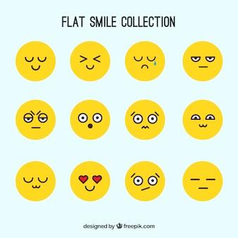 Collection de sourire jaune