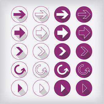 Collection sous-catégorie icônes
