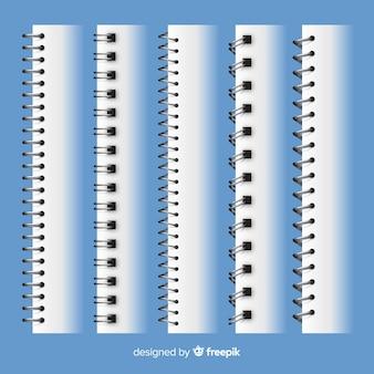 Collection de spirales réalistes pour ordinateur portable