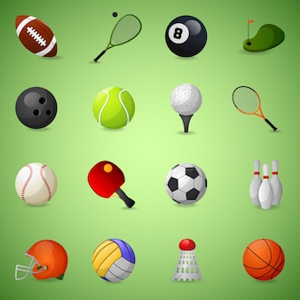 Collection sport icons
