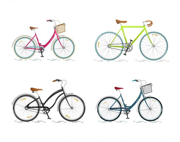 Collection sports et vélo de ville
