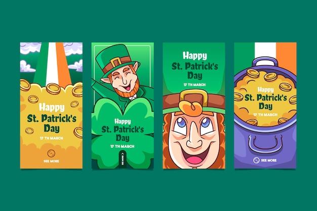 Collection de st. histoires instagram de patrick's day