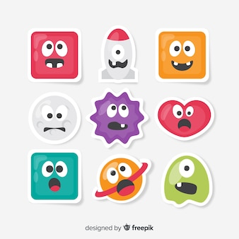 Collection de stickers amusants