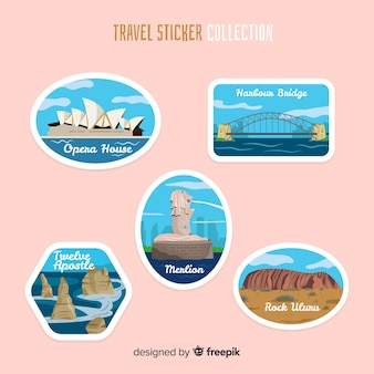 Collection de stickers australie