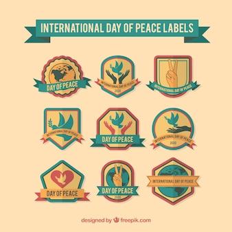 Collection de stickers décoratifs pour la journée de la paix