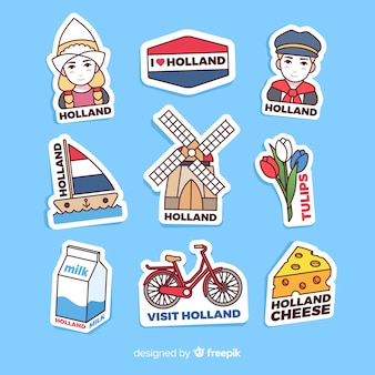 Collection de stickers pays-bas