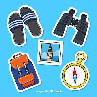 Collection de stickers pour éléments de voyage