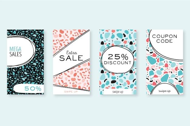 Collection de storiers instagram vente dessinés à la main