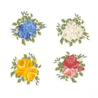 Collection de style aquarelle rose