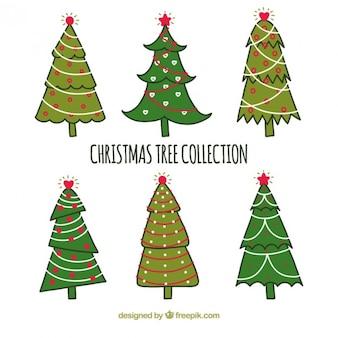 Collection de style naïf d'arbre de noël