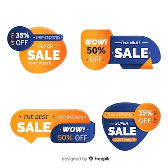 Collection de style plat étiquette de vente