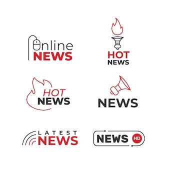 Collection de styles de logo d'actualités