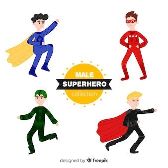 Collection de super-héros de bande dessinée masculine