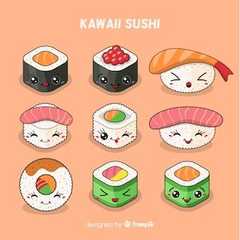 Collection de sushis kawaii