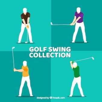 Collection de swing de golf plat