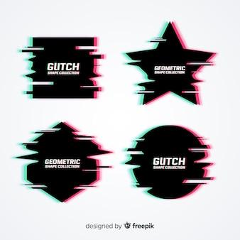 Collection de symboles d'effet glitch