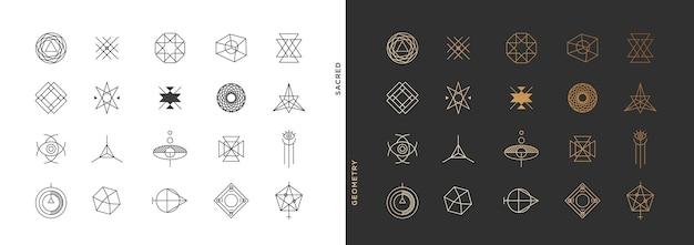 Collection de symboles géométriques abstraits minimes