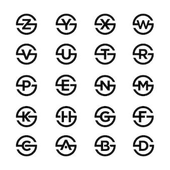 Collection de symboles lettre et variation