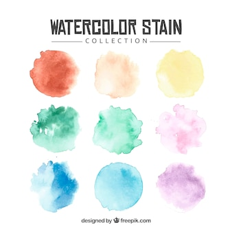 Collection de tache aquarelle