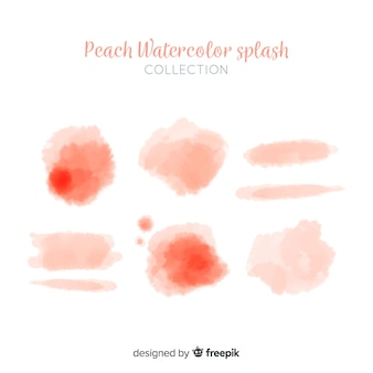 Collection de taches d'aquarelle