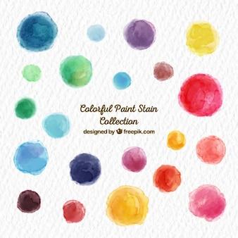 Collection de taches de peinture colorée