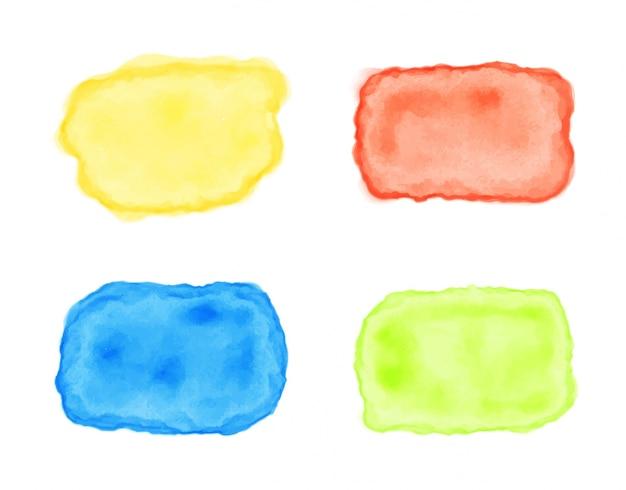 Collection de taches de peinture multicolores