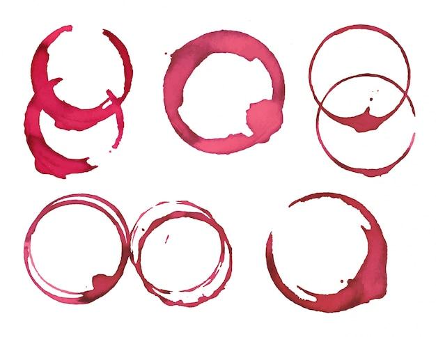 Collection de taches de peinture rose arrondie