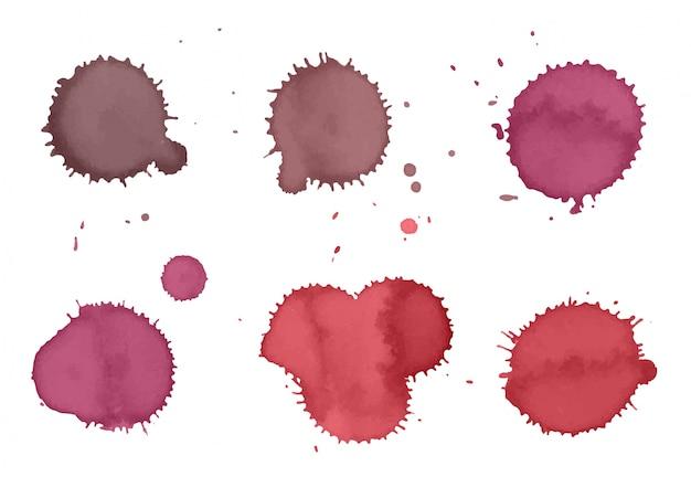 Collection de taches de peinture rose
