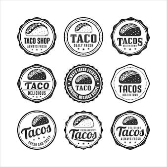 Collection de tacos de timbres de badge