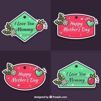 Collection de tags fête des mères