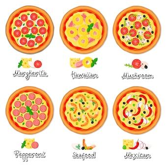 Collection de tartes à pizza