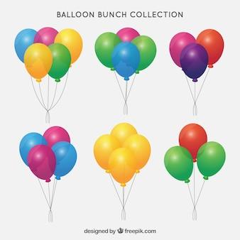 Collection de tas de ballons colorés dans le style 2d
