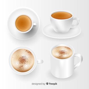 Collection de tasse de café réaliste