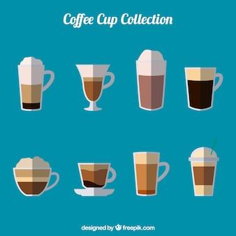 Collection de tasses à café plates