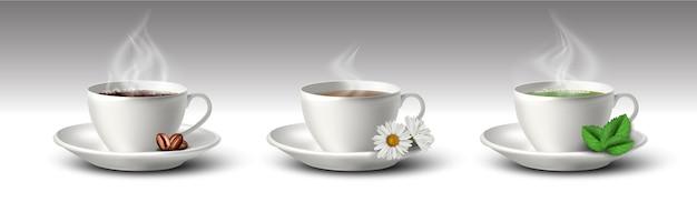 Collection de tasses à café et à thé