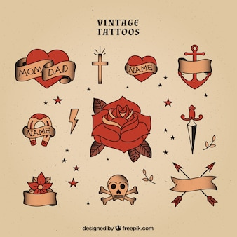 Collection de tatouages ​​vintage