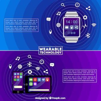 Collection de technologie template wearable