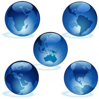 Collection terre de verre bleu